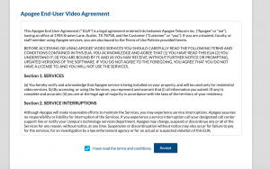 Accept the end user agreement