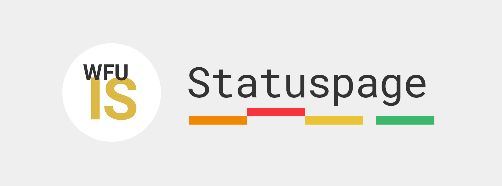 Statuspage logo next to the Information Systems Logo